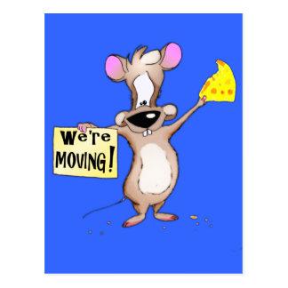¡Nos estamos moviendo! ratón Postal