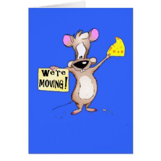 ¡Nos estamos moviendo! ratón Tarjeta De Felicitación