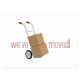 ¡Nos hemos movido! Tarjetas Postales