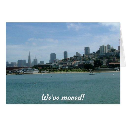 Nos hemos trasladado - a San Francisco Tarjeta De Felicitación