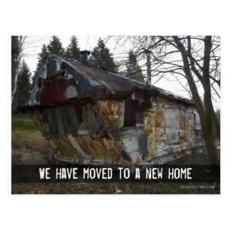 Nos hemos trasladado a un nuevo campo del hogar el tarjetas postales