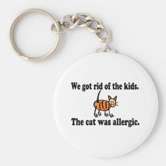Nos libramos de los niños que el gato era alérgico llavero redondo tipo pin