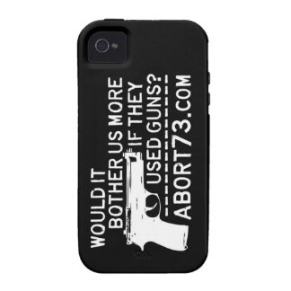 ¿Nos molestaría más si utilizaron los armas? Abort iPhone 4 Carcasas