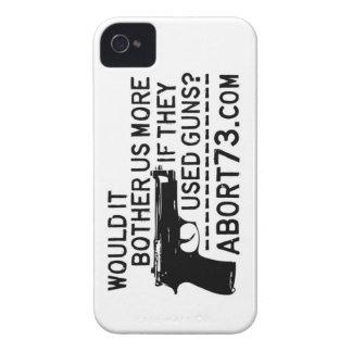 ¿Nos molestaría más si utilizaron los armas? Abort iPhone 4 Case-Mate Funda