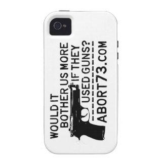 ¿Nos molestaría más si utilizaron los armas? Abort iPhone 4 Fundas