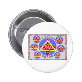 NOSA - Arte del símbolo de Karuna REIKI de Navin J Pin Redondo 5 Cm