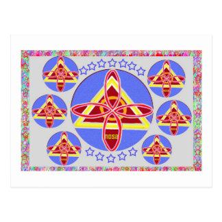 NOSA - Arte del símbolo de Karuna REIKI de Navin J Postales