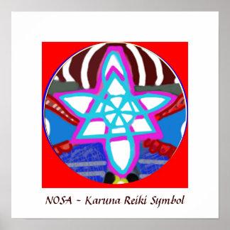 NOSA-  Karuna Reiki Healing Symbol Poster