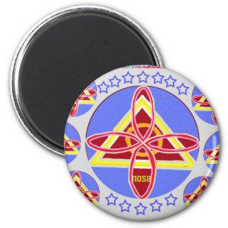 NOSA - Karuna REIKI symbol art by Navin Joshi 2 Inch Round Magnet