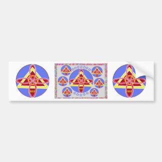 NOSA - Karuna REIKI symbol art by Navin Joshi Car Bumper Sticker