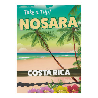 Nosara Costa Rican travel poster