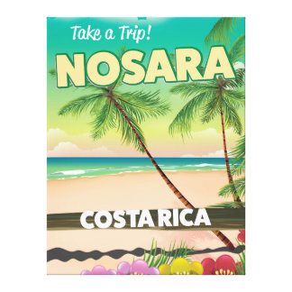 Nosara Costa Rican travel poster Canvas Print