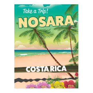 Nosara Costa Rican travel poster Postcard