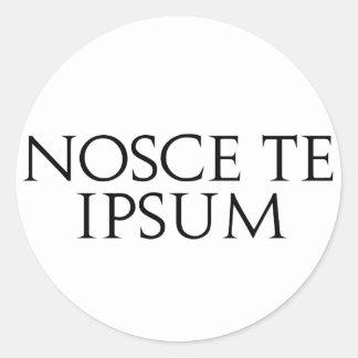 Nosce Te Ipsum Round Sticker