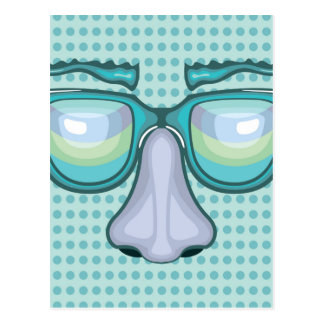 Nose and Glasses Postcard