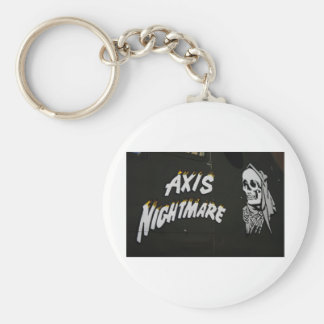 "Nose Art ""AXIS NIGHTMARE"" Bomber Basic Round Button Keychain"