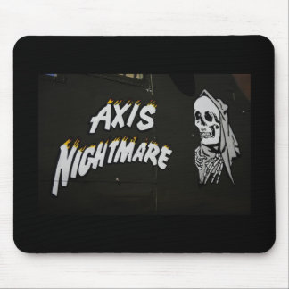 """Nose Art """"AXIS NIGHTMARE"""" Bomber Mouse Pad"""