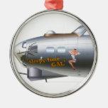 Nose Art on Bomber Ornament