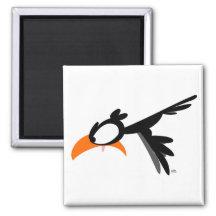 Nose-diving lil' birdie :) magnet