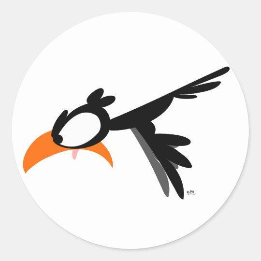 Nose-diving lil' birdie :) sticker