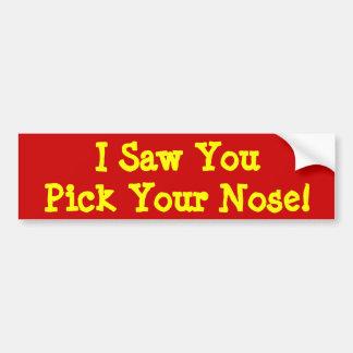 Nose Miner Car Bumper Sticker