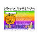 Nose Picker Halloween Martini Recipe Postcard