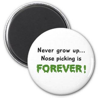 Nose Picking 2 Inch Round Magnet