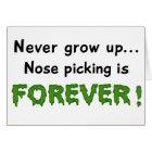 Nose Picking Card