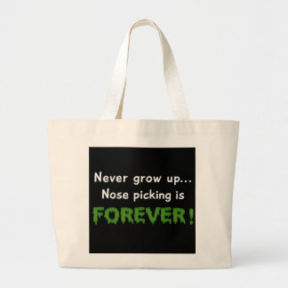 Nose Picking Forever Tote Bags