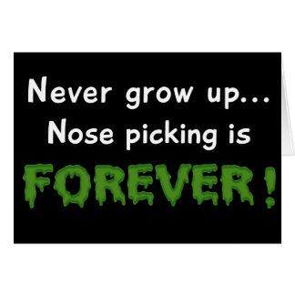 Nose Picking Forever Card