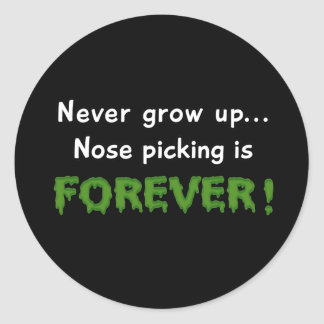 Nose Picking Forever Round Stickers
