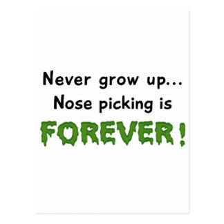 Nose Picking Postcard