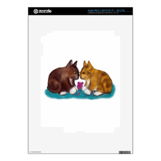 Nose to Nose over the Mouse Toy Skins For iPad 3