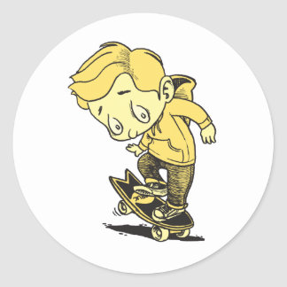 Nose Wheelie! Classic Round Sticker