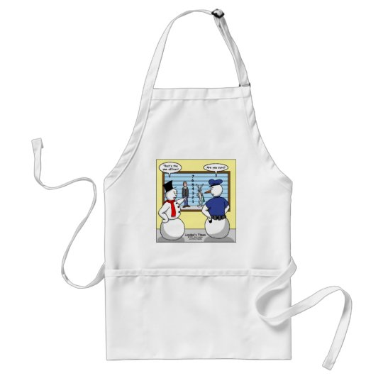 Noseless Snowman Bunny Suspect Gifts & Tees Adult Apron