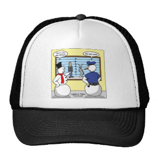Noseless Snowman Bunny Suspect Gifts & Tees Trucker Hat
