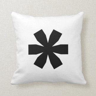 Nosetouch Press Asterisk Pillow White