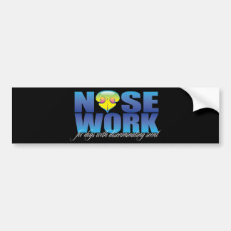 Nosework For Dogs with Discriminating Scent Car Bumper Sticker