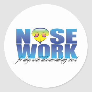 Nosework For Dogs with Discriminating Scent Classic Round Sticker