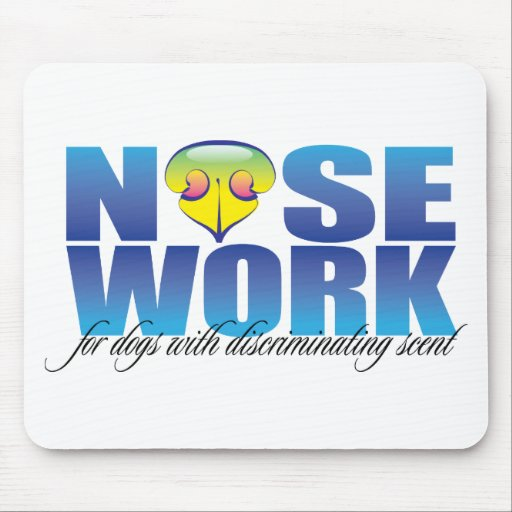 Nosework For Dogs with Discriminating Scent Mouse Pad