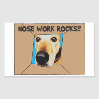 Nosework or Nose Work - it's fun for dogs! Rectangular Sticker