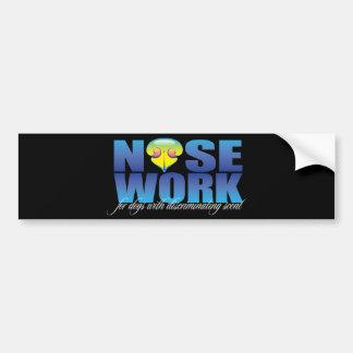 Nosework para los perros con olor discriminatorio pegatina de parachoque