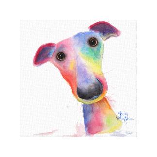 Nosey Dog 'Hank' Whippet / Greyhound Canvas Print