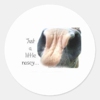 Nosey Horse Classic Round Sticker
