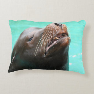 Nosey Sea Lion Accent Pillow