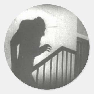 Nosferatu Crawling the Stairs Classic Round Sticker