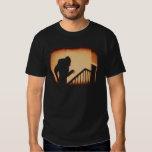 Nosferatu en la camiseta de las sombras remeras