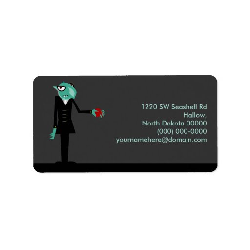 Nosferatu Invites You Address Label