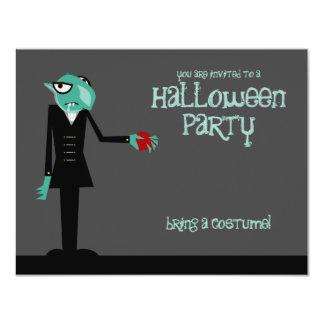 """Nosferatu Invites You Halloween Party Invitation 4.25"""" X 5.5"""" Invitation Card"""