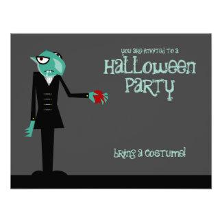 Nosferatu le invita invitación del fiesta de Hallo